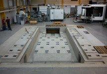 Erstellen eines Maschinenfundamentes in bestehender Halle