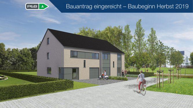 Vorankündigung: Doppelhaus – Zentral am Rad- & Fussweg Promenade zwischen Eupen und Kettenis