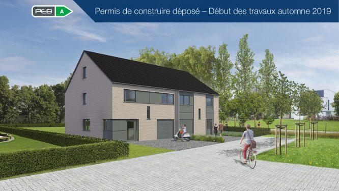 Avis préalable: Maison jumelée – Situation centrale au bord de la piste cyclable et du chemin piétonnier entre Eupen et Kettenis