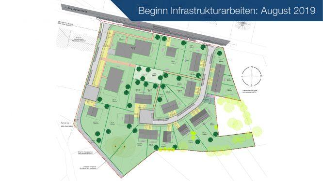 Völkerich – Gemmenich: Erschliessung eines neuen Wohngebietes